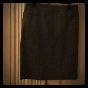Banana Republic gray pencil skirt.NWOT